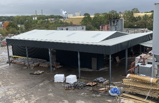 Asphalt Storage Building with Lean on Loading Bay