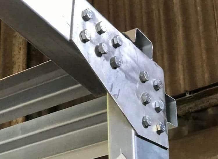 Corner Connection of a Steel Framed Building